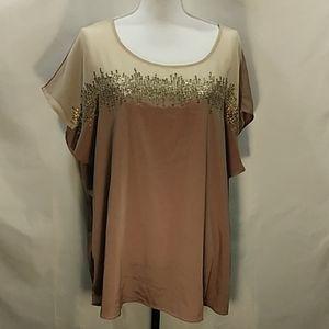 Lane Bryant top Brown/Tan blouse size 18 / 20